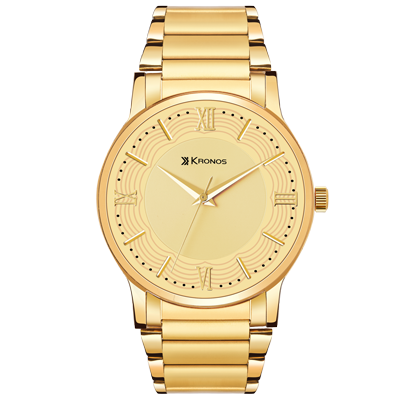 K - 1007 Gold Dial Gold Plated Metal Strap